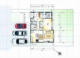 津市不動産 津市安濃町田端上野9号地 モデルハウスの配置図